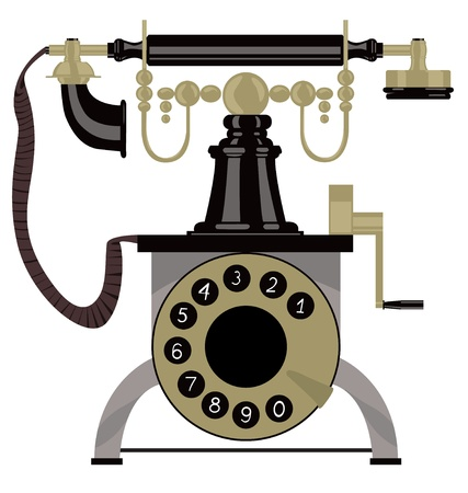 call history: vectorm illustration of old telephone