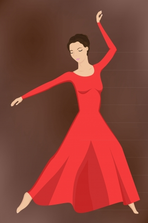 strass: vector illustration of ballet dancer