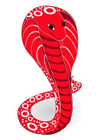vector illustration of the red cobra Vector
