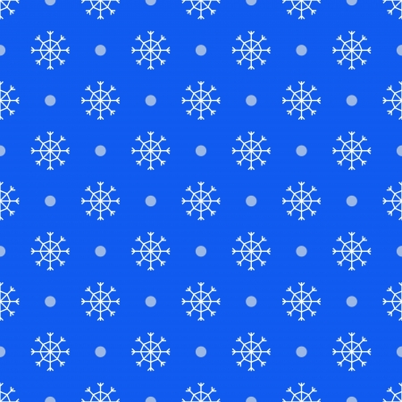 vector seamless blue pattern with snowflakes Stock Vector - 16425963