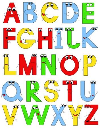 vector funny alphabet Illustration