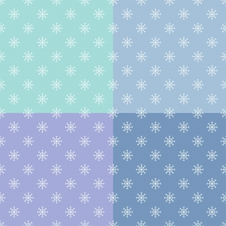 vector set of seamless pattern with snowflakes Stock Vector - 16425979