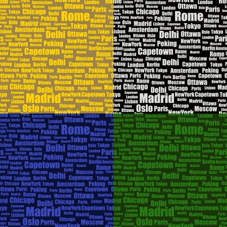 set of vector seamless pattern with cities names Vector