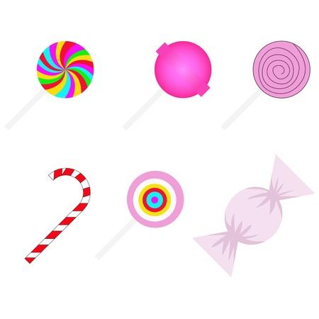 sweetmeats: vector conjunto de diferentes dulces Vectores