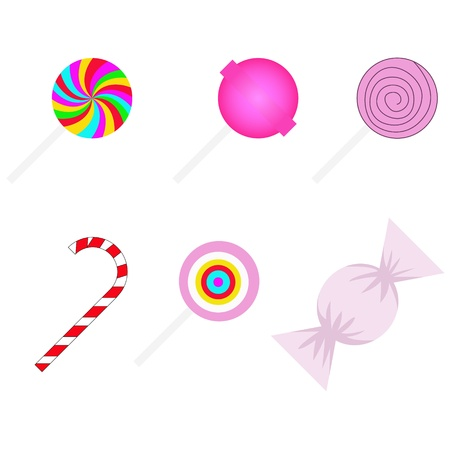 sweetmeats: vector set of different sweetmeats