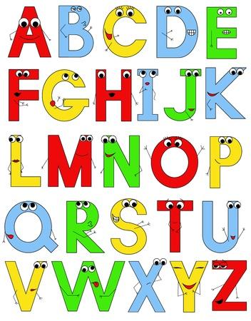 timidity: funny alphabet Illustration