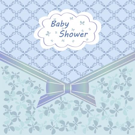 card baby shower blue