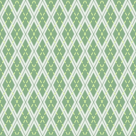 green seamless pattern with rhombuses
