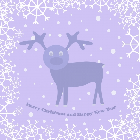 christmas card with deer Stock Vector - 16670098