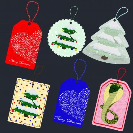 Christmas tags Stock Vector - 16720433