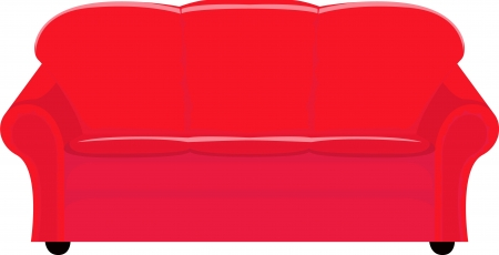 red couch: illustration of red couch