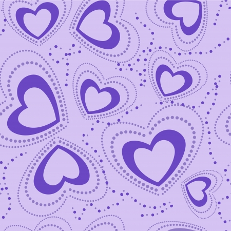 seamless pattern with blue hearts Stock Vector - 17236953