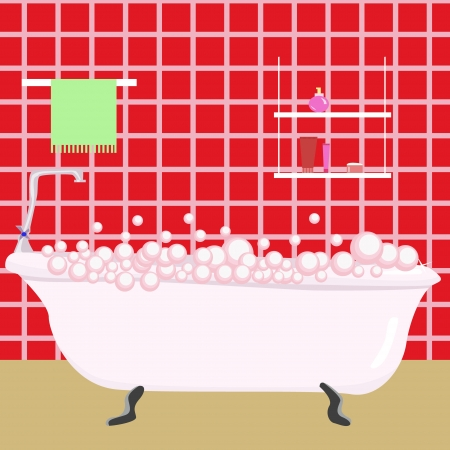 red bathroom Stock Vector - 17242827