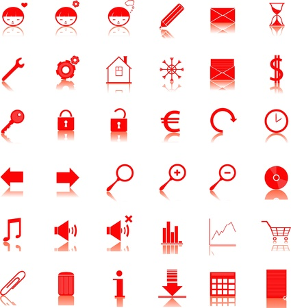 web icons Stock Vector - 17329643
