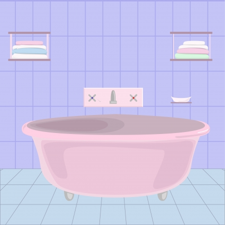 cartoom: cartoom bathroom Illustration