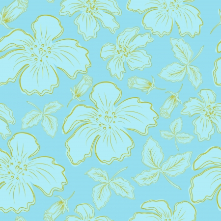 seamless bacground: blue flowers Illustration
