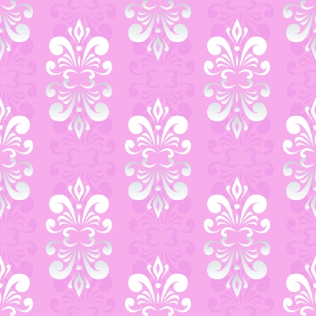 pink damask pattern Vector