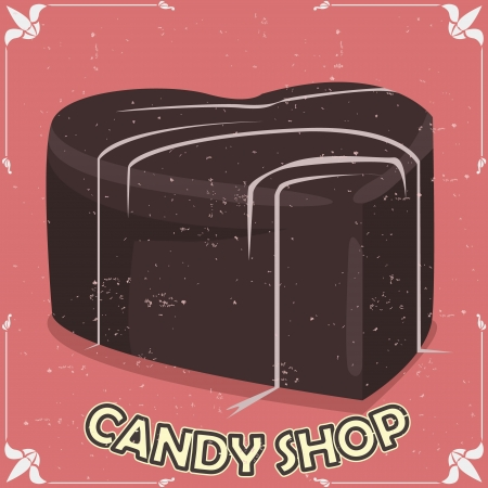 stuffing: vector candy shop signboard