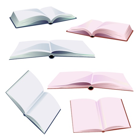 set of open books Stock Vector - 17962882