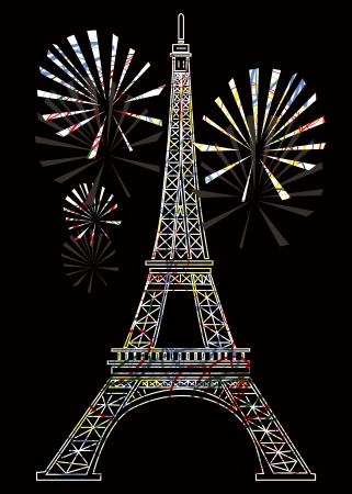 colorful eiffel tower