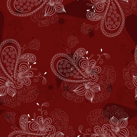 vinous: vinous floral pattern Illustration