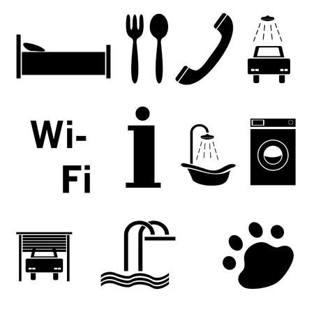 sleeping car: Hotel icons