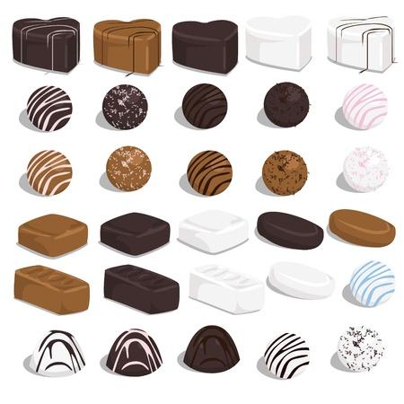 Set von Süßigkeiten Standard-Bild - 18069583