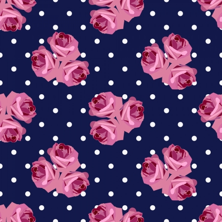 vector seamless pattern with roses Stock Vector - 18068934