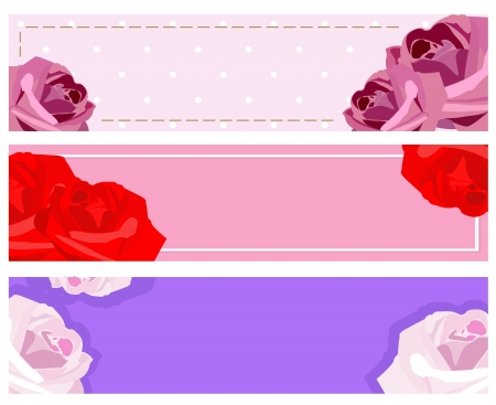 vector banners with roses Stock Vector - 18068928