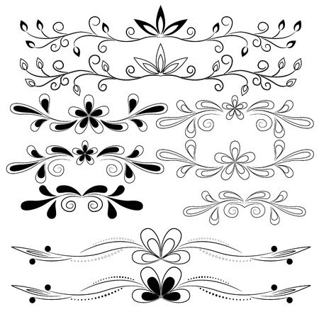 vector set of floral design elements Stock Vector - 18226477