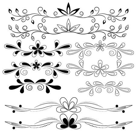vector set of floral design elements Stock Vector - 18226477