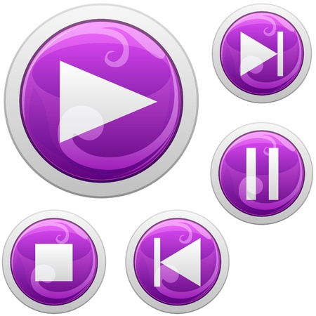 media buttons Stock Vector - 18343186