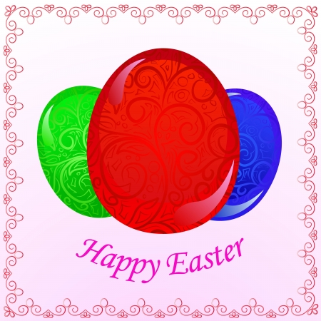 vector greeting easter card Vector