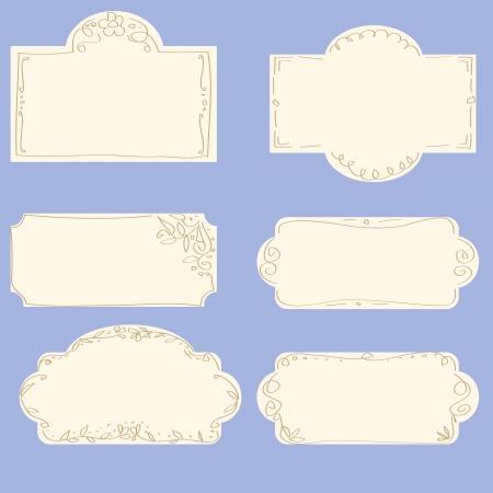 vector set of doodle frames