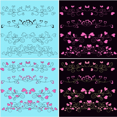 vector set of romantic design elements Stock Vector - 18394074