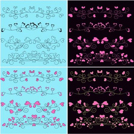 vector set of romantic design elements Stock Vector - 18394074