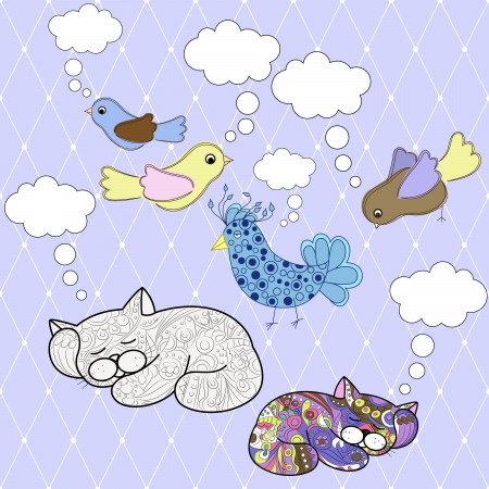vector set of animals with speech bubbles Vector