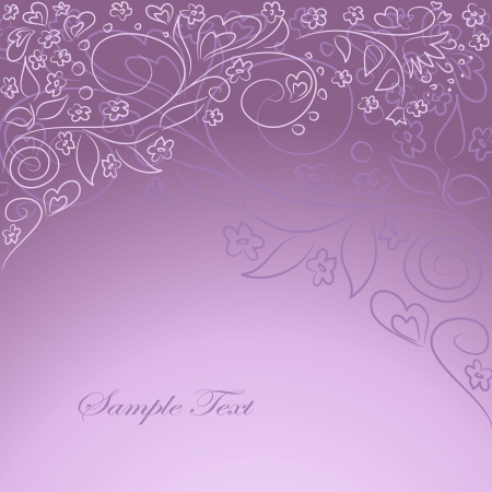 vector lilac background with hand drawing oarnate Stock Vector - 18394072