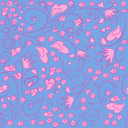 vector seamless pattern with hand drawing ornate Stock Vector - 18394076