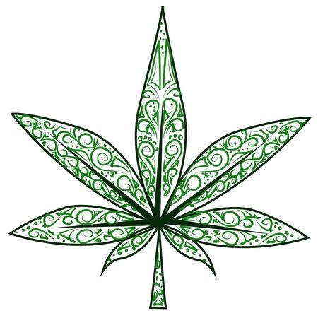 hoja marihuana: hoja de marihuana