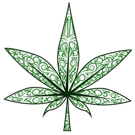 marijuana leaf: marijuana leaf Illustration