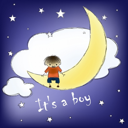 its a boy card Vector