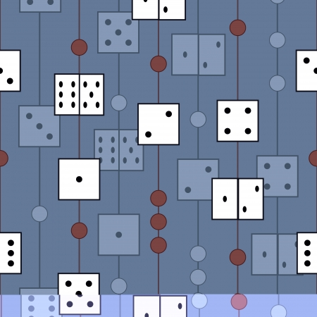 vector seamless pattern with dices