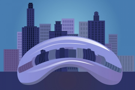 chicago: vector illustration of Chicago city