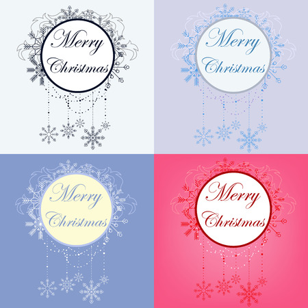 set of christmas banners photo