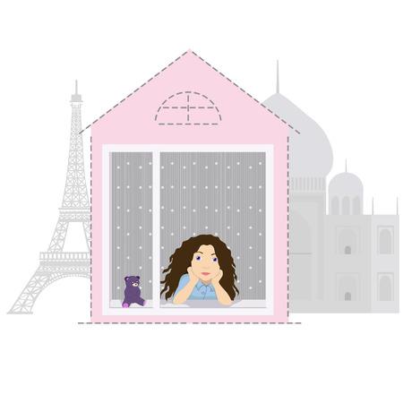 wherever: illustration sweet home Stock Photo