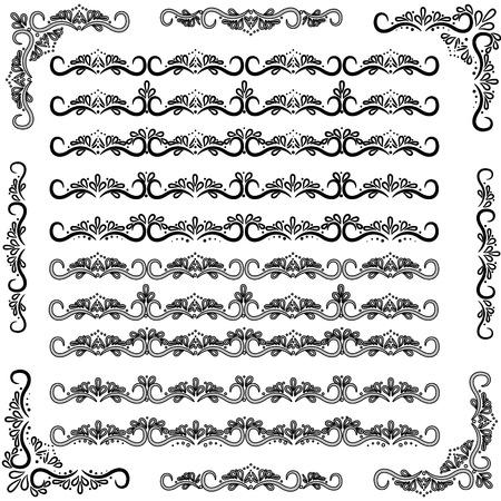 devider: vector set of swirl decor elements