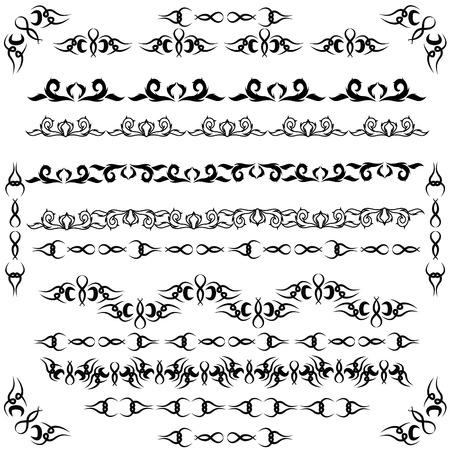 devider: vector set of decorative elements