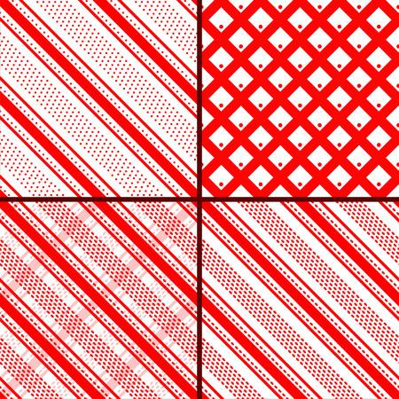 oblique: red oblique striped patterns Illustration