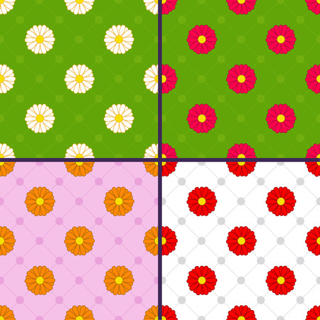 patterns with daisies Illustration